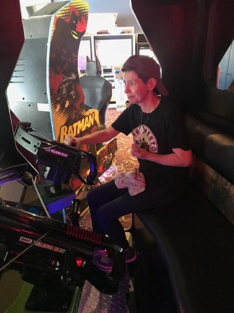 Cheryl at the Arcade